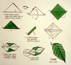 Best Leaf origami instructions