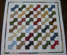Bow Tie patchwork Quilt Table Runner by MagpieQuilts on Etsy, $70.00