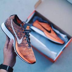 Nike Flyknit Racer Orange Running Shoes Nike 94c43c2a59b
