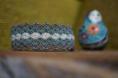Beaded micro macrame bracelet in blue color by MaartsShitHappens on Etsy https://www.etsy.com/listing/260964639/beaded-micro-macrame-bracelet-in-blue