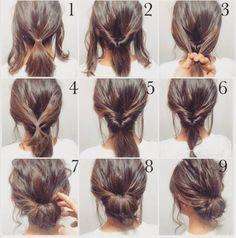 Love this bun tutorial - perfect for work!  . . . #hair #workhair #bun #loosebun