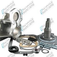 50-2401 : GM SM 420 4 speed manual transmission to the Jeep Dana 18 / 20 with 6 spline drive gear, (spud shaft design adapter kit).