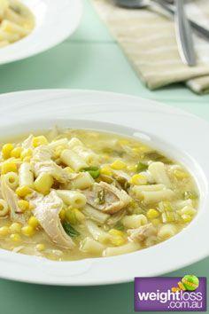 Healthy Soup Recipes: Chicken & Corn Soup. #HealthyRecipes #DietRecipes #WeightLoss #WeightlossRecipes weightloss.com.au