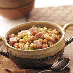Hearty Bean Soup with Ham - This is one of my favorite soup recipes  i didnt even think i liked ham  bean soup before this.