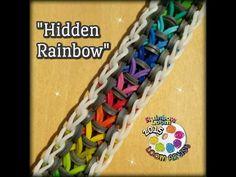 """New """"Hidden Rainbow"""" Rainbow Loom Bracelet/How To - YouTube"""