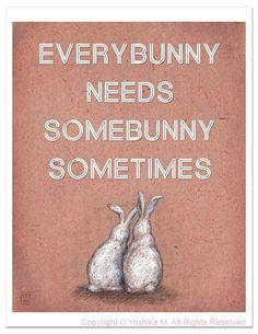Everybunny needs somebunny, so don't keep rabbits alone. And don't buy, adopt.  #spring #rabbits