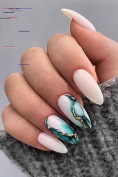 30 Wow Wedding Nail Ideas ❤ nail ideas wedding white nails with marble blue paint and gold nailartist_natal Loading. 30 Wow Wedding Nail Ideas ❤ nail ideas wedding white nails with marble blue paint and gold nailartist_natal Marble Nail Designs, Marble Nail Art, Acrylic Nail Designs, Nail Art Designs, Nails Design, Salon Design, Spring Nail Art, Spring Nails, Summer Nails