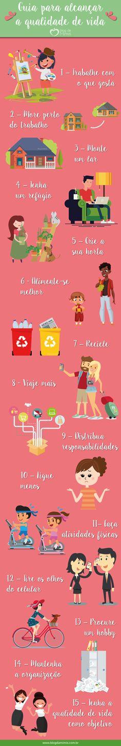 Guia com 15 passos para alcançar a qualidade de vida - Blog da Mimis #blogdamimis #guia #dicas #tips #qualidadedevida #qualidade #vida #emagrecer #saudável