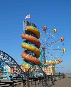 Cleethorpes beach funfair rides
