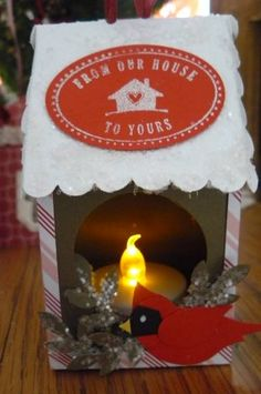 Milk Carton Ornament Tea Light Holder by jeannen2 - Cards and Paper Crafts at Splitcoaststampers