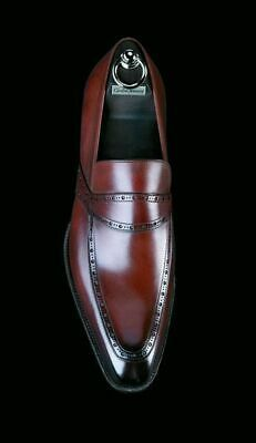 Handmade Men's Brown Brogue Slip On Dress Business Shoes Real Leather Shoes sold by Leather Art Shop more products from Leather Art 2020 on Storenvy, the home of independent small businesses all over the world. Suit Shoes, Men's Shoes, Shoe Boots, Dress Shoes, Dress Clothes, Shoes Men, Formal Shoes, Casual Shoes, Men Casual