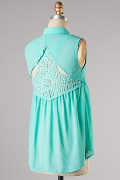 Mint lace back top You can get this at boutique-posh.com/ or find us on facebook at www.facebook.com/... Boho style like Free People and Anthropologie. Great fashion trends for Spring Summer and Fall. Trendy fun Fashion. Great place to shop if your looking for a dress, top, shorts, jeans and more. Cute outfits that have comfort and style, southern fashion.