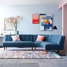Rounded Retro Sectional #westelm