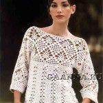 Белый джемпер / Вязание крючком / Женская одежда крючком. Схемы и описание