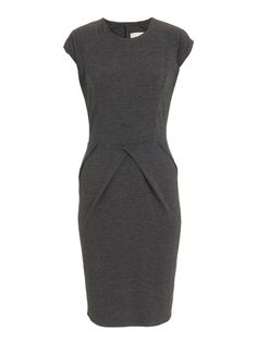Dress with front pleat Mid Grey