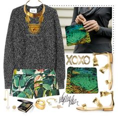 XOXO by cherieaustin on Polyvore featuring Acne Studios, Just Cavalli, Oscar de la Renta, Bita Pourtavoosi, Asherali Knopfer, Gucci, Oliver Gal Artist Co. and Børn