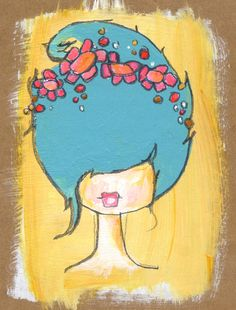 daisy  an original painting by kelly barton on Etsy