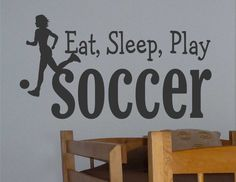 Vinyl Wall Lettering Eat Sleep Play Soccer Sports Quote Choice Girl or Boy Decal on Etsy, $13.00