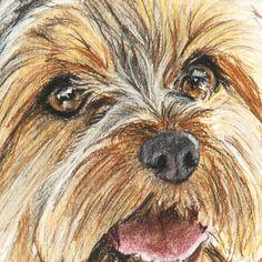 Yorkshire Terrier Art Print Painting 8x10 Yorkie Dog Art door ESArt