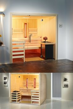 In Espe Massiv Outdoor Sauna, Indoor Outdoor, Sauna Kits, Loft, Furniture, Home Decor, Fine Dining, Bathing, Decoration Home