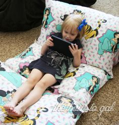 The How-To Gal: I Did It! Series: Pillow Pad from Twin Sheet.  Must make these for the kiddos