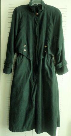 Green Preston & York Trench Coat Size 14