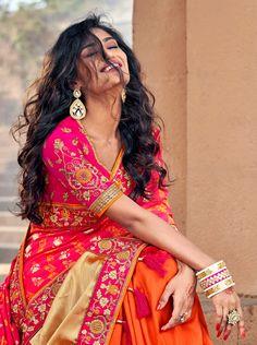 Silk designer embroidered party wear sarees with designer blouse material– Chinpack Banarasi Sarees, Silk Sarees, Sharara, Indian Sarees Online, Latest Designer Sarees, Casual Saree, Bollywood Saree, Party Wear Sarees, Beautiful Saree