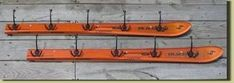 Rustic Home Decor - Rustic Home Decor - Tree Coat Rack, Coat Racks, Ski Lodge Decor, Modern Rustic Decor, Rustic Interiors, Wood Crafts, Skiing, Recycling, Gloves