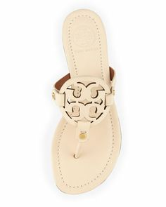 Tory Burch Miller Logo Slide Thong Sandal, Vanilla Cream. I have theses in brown and snake skin and LOVE them.