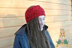 Oxblood braided headband crochet headband braided by BohoBunnies