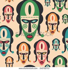 Seamless pattern with colorful carnival masks. #vectorpattern #patterndesign #seamlesspattern