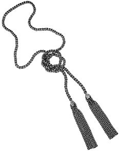 Jackie Tassel Necklace in Gunmetal - Kendra Scott Jewelry. Coming October 15!
