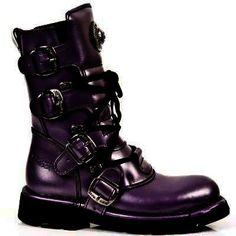 Purple New Rock boots / faints. You could kick some serious *ahem!* in these! Love the buckles.