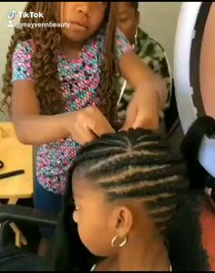 I need my hair done Little Girl Hairstyles Black hair Little Girls Natural Hairstyles, Black Girl Braided Hairstyles, Black Kids Hairstyles, Baby Girl Hairstyles, Natural Hair Styles For Black Women, Kids Cornrow Hairstyles, Hairstyles Videos, Crochet Hairstyles For Kids, Braided Mohawk Black Hair