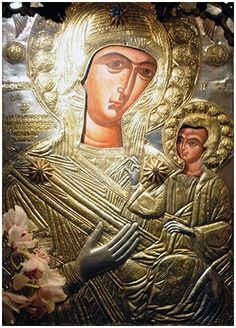 Mother and Child Tin Foil Art, Art Icon, In Ancient Times, Orthodox Icons, Russian Art, Virgin Mary, Mother Mary, Illuminated Manuscript, Holidays And Events