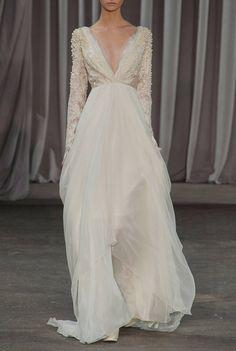 Vestido de novia con mangas largas...Ideal