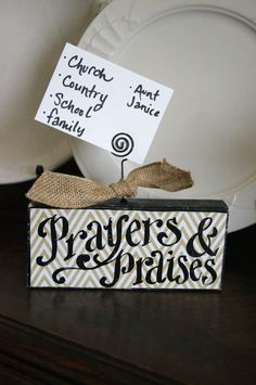 Prayers and Praises Card Holder by kijsa on Etsy
