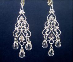 Silver Chandelier Clip On Earrings - $25.00
