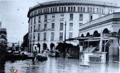 Ribera y Juarez durante la inundacion en 1955