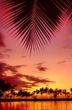 Sunset, Kona coast, Hawaii