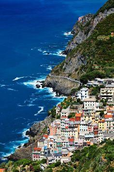 Riomaggiore Village, Cinque Terre, Italy  #italy #vacation #travel #ocean #coast