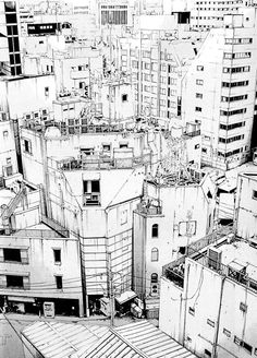 What is striking in the precise drawings of the japanese comic artist Manabe Shohei is their ability to immediately express the feeling of a street or a neighborhood. They succeed in revealing the interesting in the banal, the combination of the ordinary and the exceptional in the urban fabric...