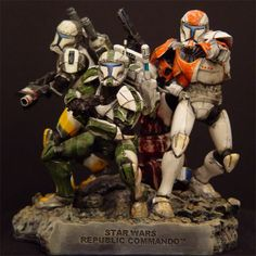 for Like the LucasArts Gentle Giant Star Wars Republic Commando Delta Squad Maquette Sealed ! Star Wars Facts, Star Wars Humor, Guerra Dos Clones, Star Wars Commando, Figuras Star Wars, Star Wars Timeline, Republic Commando, Lucas Arts, Giant Star