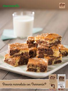 Brownie marmolado con Thermomix