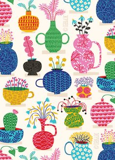 Summer is fleeting so make the most of it with a stylish, colorful design for your getaway or beach house #Wallpaper