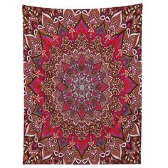 Aimee St Hill Farah Red Tapestry   DENY Designs Home Accessories