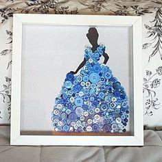 Cinderella button art
