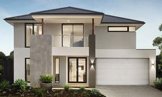haus design Australian home building Arden Homes will now include a Tesla Powerwall in their new homes through a partnership with Bradford Solar. House Front Design, Modern House Design, Arden Homes, Solar House, Dream House Exterior, Australian Homes, Facade House, Home Builders, House Colors
