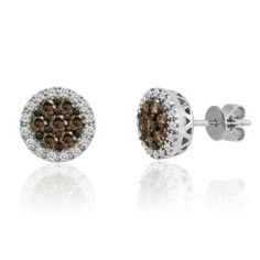 Le Vian Chocolate Diamond 18k White Gold Earrings I Want Them Jewelry Pinterest And