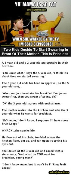 What NOT To Say In Front Of Your Mother. This Is Gold.